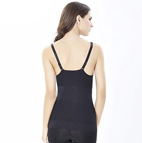 CHENGYANG Donna Modellante Canottiera Shapewear Dimagramento Lingerie Contenitiva Canotta Snellente Intimo Nero#03