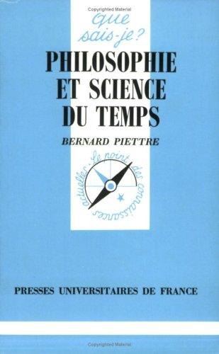 Philosophie et Science du Temps