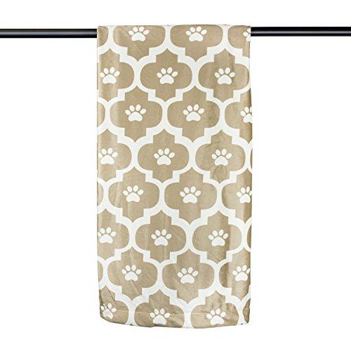 Bone Dry DII hueso seco muy cálido, suave como la seda, Pet manta para sofá, coche de huellas de marroquí, tronco, jaula, de la perrera, perro o casa