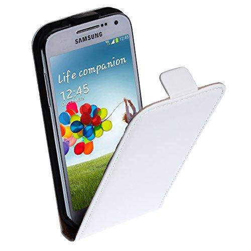 wortek Flip Case Samsung Galaxy S4 Mini i9195 Tasche Weiß