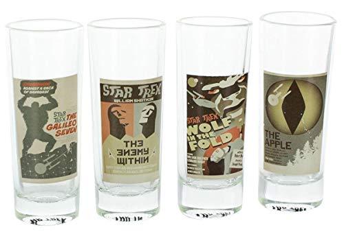 Star Trek: TOS Fine Art Shot Glasses, Set of 4