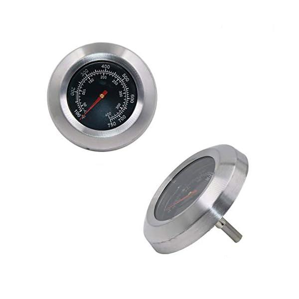 GFTIME Cara de 7,6 cm con un vástago de 4 cm Termómetros para barbacoas y fumadores Termómetro para barbacoa Medidor de temperatura Repuestos Termómetro para parrilla Accesorios para parrilla