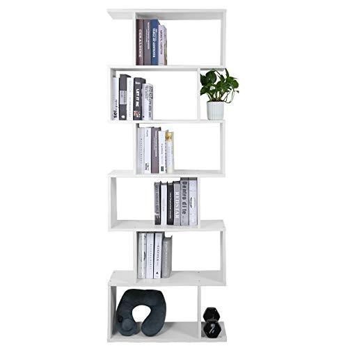 LEMAIJIAJU Bücherregal Würfelregal Bücherschrank Holzregal Aufbewahrungsregal Universal Regal (70 x 23.5 x 190.5 cm) -