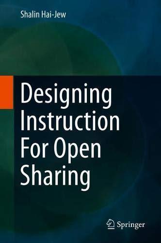 Preisvergleich Produktbild Designing Instruction For Open Sharing