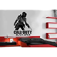 Call of Duty Black Ops 3 Style PS4 Xbox Teen vinyl Wall Art Decal Sticker, Vinile, Gold, 58 x 84 cm