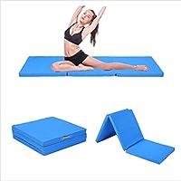 Tapis de Gymnastique Epais Large Pliable 3 Sections Mousse Tapis de Fitness Rythmique Artistique Sportive 180x60x5cm
