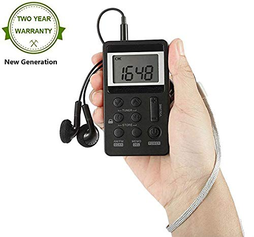 Mini Radio Portatile Ricevitore Radio AM FM Ricevitore Walkman Cuffie Radio Personale Tascabile Radio