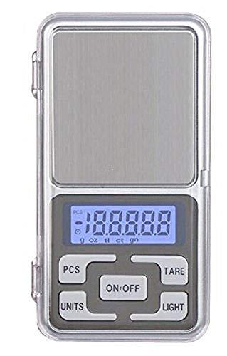 Eidyer Mini Digitale Taschenwaage, 0,01-300g Feinwaage Küchenwaage LED-Hintergrundbeleuchtung-Anzeige, Mini-Digital-Taschen-Skala -
