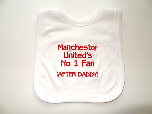 PERSONALISED BABY BIB - FUN MANCHESTER UNITED GIFT - NAME...