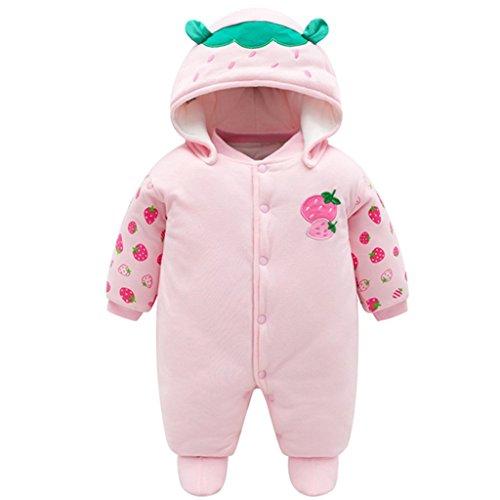 Neugeborene Baby Overall Mit Kapuze Füßlinge Strampler Winter Schneeanzüge Karikatur Jumpsuit Onesies, 0-3 Monate