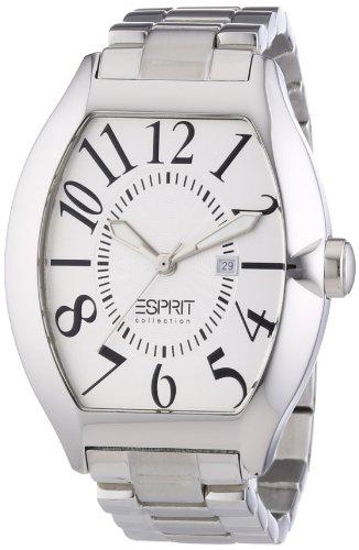 Esprit Collection hector silver EL101081F05 - Reloj analógico de cuarzo para hombre, correa de acero inoxidable color plateado (agujas luminiscentes)