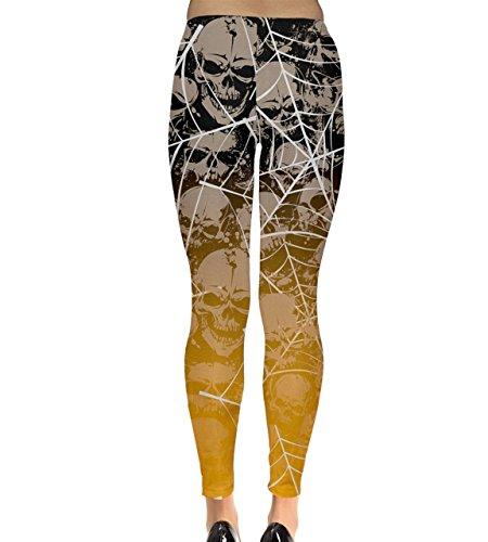 CowCow - Legging - Femme noir noir Orange/noir