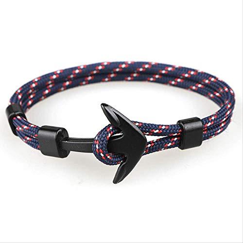 TOUT Armband mit Anker-Armbändern für Herren, modisch, Schwarz - Lächeln Armband