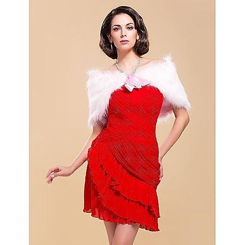 Abrigos de piel / abrigos de la boda encoge de plumas/piel rubor rosa boda / fiesta / oficina y carrera fajas / cintas cordones sí