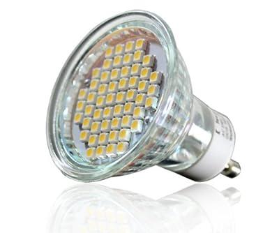 SMD SPOT GU10 230V HI-POWER 54 SMDs LEUCHTMITTEL LED LAMPE lux.pro® NEUHEIT --- TÜV geprüft --- von Luxpro auf Lampenhans.de