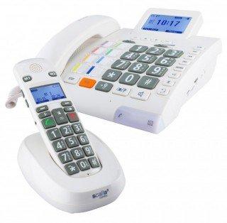 Telefon Notfall Schnurloses (Seniorentelefon Humantechnik Scalla 3 Combo)