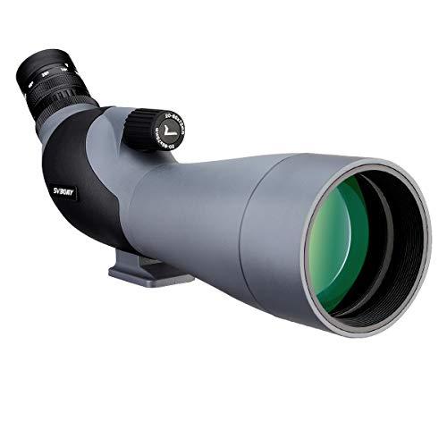 Svbony SV402 Telescopio Terrestre 20-60x70 Zoom HD FMC Porro Prisma Monocular Ocular Angulado Spotting Scope para Observación de Aves Tiro con Arco Deportes Actividades al Aire Libre