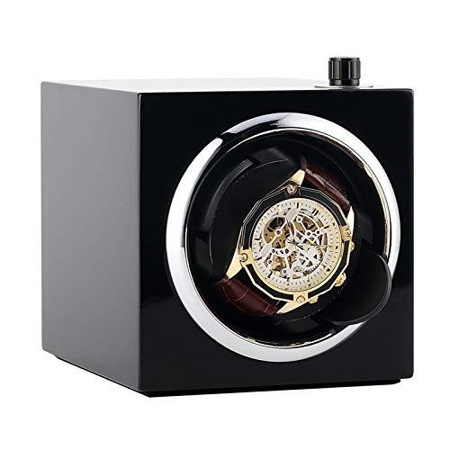 QWERTOUY Reloj Winder Motor Pantalla Reloj Almacenamiento Mecánico Reloj Giratorio Caja de...