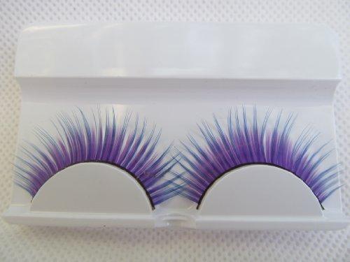 fat-catz-copy-catz - 1 Paar hochwertiger, dicker künstlicher Augenbrauen für Kostüme oder Verkleidungen - Einheitsgröße, Y-4 Violette Wimpern (Uk Kostüme Hochwertige)