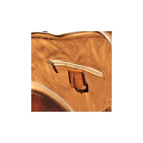 Pratesi Talla borsa a spalla in vera pelle - B463 Bruce (Chianti) Marrone