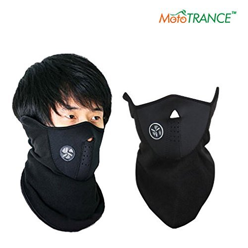 Mototrance Neoprene Half Face Bike Riding Mask (Black)  available at amazon for Rs.159
