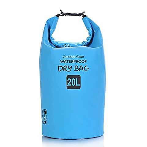 Aokon étanche Dry Bag 5L/10L/20L/30L Dry Sack avec bandoulière amovible