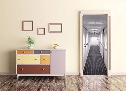 CFLEGEND Türtapete selbstklebend TürPoster Innenborder Korridor 95X215CM 3D Bewirken Fototapete Türfolie Poster Tapete Abnehmbar Wandtapete zum Wohnzimmer Küche Schlafzimmer Wandaufkleber