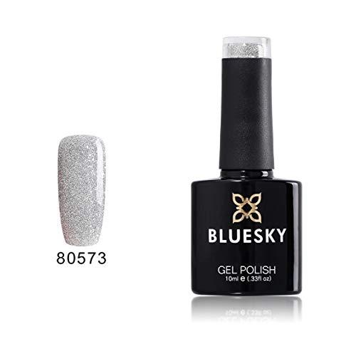 Bluesky silver glitter explosion, smalto per unghie in gel soak-off, per lampade led o uv, argento con brillantini (80573), 10 ml