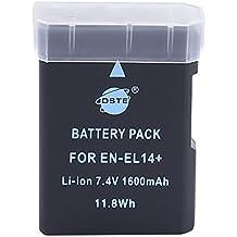 DSTE - Batería de repuesto equivalente a Nikon EN-EL14 ENEL14 (ión de litio, 7,4 V, 1350 mAh)