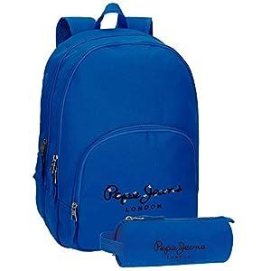 41n81GixfJL. SS300  - Mochila Pepe Jeans Harlow Gris doble compartimento + estuche escolar