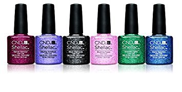 New 2016CND Shellac Starstruck Glitter Collection-UV/LED Soak Off Gel Nagellack -