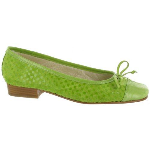 Riva Andros Wildleder Ballerina / Damen Schuhe Cappuccino
