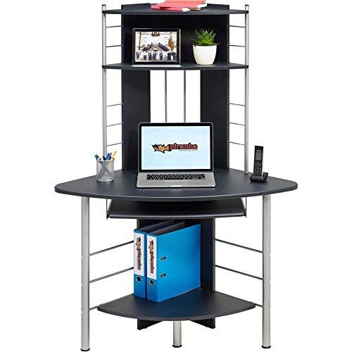 Eck-computer-schreibtisch (Piranha PC8g, kompakter Computer-Eck-Schreibtisch mit 3Ablagen)