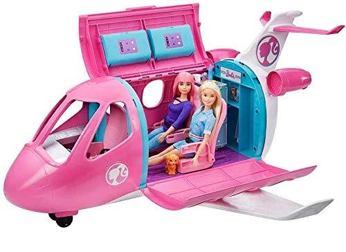 Barbie- Aereo, Playset Veicolo e Accessori, Bambola Non Inclusa, Giocattolo per Bambini 3+ Anni, GDG76