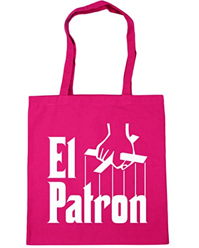 hippowarehouse-el-patron-pablo-escobar-tote-compras-bolsa-de-playa-42-cm-x38-cm-10-litros-rosa-fucsi