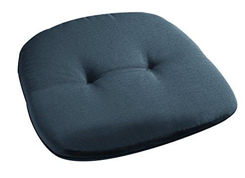 Best Coussin pour Chaise à Dossier Haut Gris 80 x 43 x 5 cm