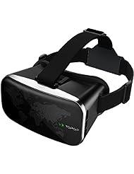 Topop Lunettes de réalité virtuelle VR 3D avec lentille réglable pour Vidéo et jeux Compatible avec Apple iPhone 55S 66S Android