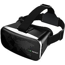 Gafas de Realidad Virtual VR Gafas 3D de TopElek con Lente Ajustable para Vídeo y Juegos Compatible con Apple iPhone 5 5s 6 6s Android Movíl