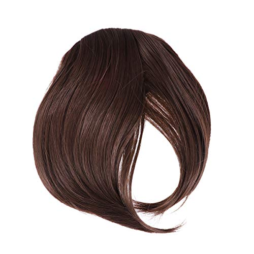 Frcolor un pezzo di clip in frangette frontali frangia capelli estensioni parrucche sintetiche