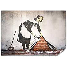 Banksy Street Maid Poster Print A2