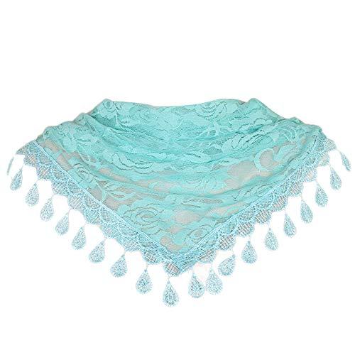 Lqqstore sciarpe donna moda pizzo rosa floreale cava sciarpa triangolari scialle nappa avvolge sciarpe sciarpa fazzoletti da collo scaldacollo