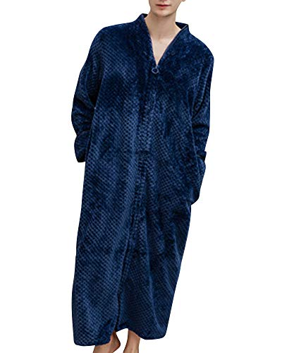 Quge uomo e donne vestaglia da notte accappatoio pigiama morbido marina militare xl