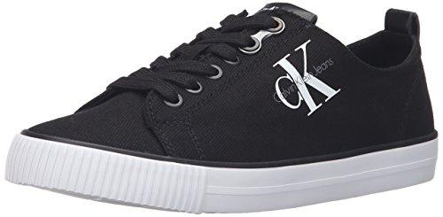 Calvin Klein Jeans Damen Dora Canvas Sneaker, Schwarz (BLK), 39 EU