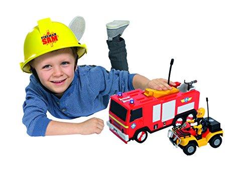 RC Feuerwehr kaufen Feuerwehr Bild 1: Dickie Toys 203099612 - RC Feuerwehrmann Sam Jupiter, funkferngesteuertes Feuerwehrauto, 22 cm*