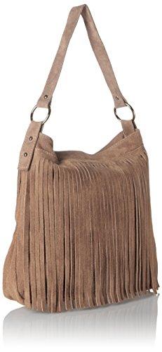 Bags4Less Damen Tipi Umhängetasche, 20x35x38 cm Braun (Taupe)