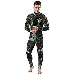 KPILP Homme Pantalon de Plage Costume de Surf - Homme La Mode Les Loisirs 2-Face NylonLaminatedSCR 3mm - Haute qualité - Combinaison Spéciale de Plongée M-3XL(Marine,XL)