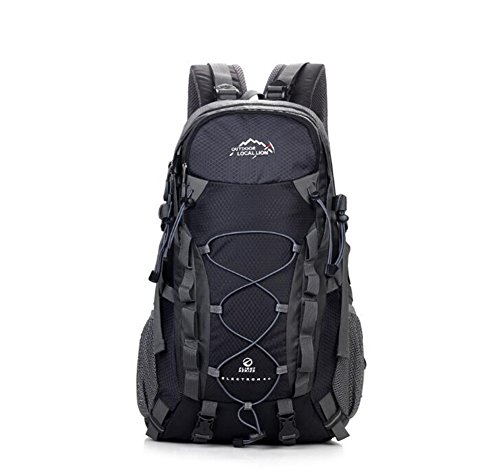Wmshpeds Alpinismo per esterno in nylon nero neutro / gli uomini e le donne possono essere uomini e donne borsa a tracolla 36-55l alpinismo in borsa C