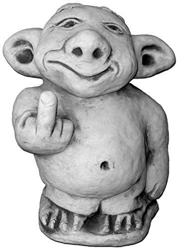 """Riesen XXL Troll """"Mittelfinger"""" Stinkefinger aus Steinguss, frostfest"""