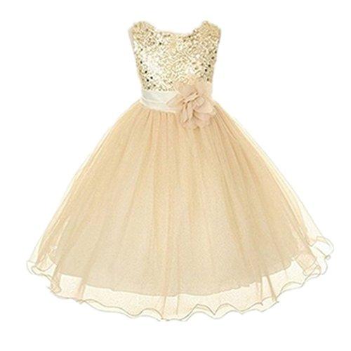 Brightup 0-24 Monate Baby Mädchen Kleider (7-8 Jahre, Beige-Kinder) (0 24 Monat Halloween Kostüme)