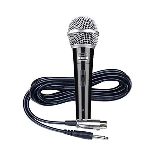 Karaoke, Kabelgebundenes Mikrofon Mikrofon, Family KTV Gesang Karaoke-Konferenz Speech Dedicated Dynamic Microphone, Schwarz (Color : Silver) Speech Bluetooth